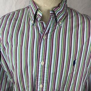 Ralph Lauren Men's Large striped casual shirt